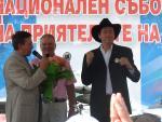 Бисер Киров получава орден за юбилея си на язовир Копринка