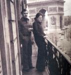 Богдана Карадочева с втория си съпруг Димитър Аврамов в Париж