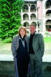 Маргарита Хранова и Кирил Бойчев на Рилския манастир