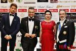 Лорд Евгени Минчев с дамата си д-р Ружа Игнатова и гостите си Стивън Боумън и граф Юлисис Ролим