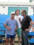 Композиторите Стефан Диомов, Светослав Лобошки и Любомир Дамянов на репетицията на Бургас и морето 2012