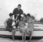 Йорданка Христова, Бисер Киров, Маргарита Димитрова и Маргарита Радинска в Куба