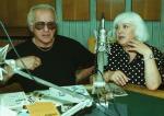 Мария Мицева при завръщането си в България през 2003 г. със съпруга си Михран Вартан