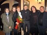 Мая Нешкова със семейството си и Станислав Яневски