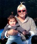 Милена Славова с дъщеричката си Куини