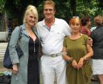 Йордан Марчинков с втората си съпруга и Сесил